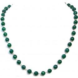 Colier onix verde cu argint 925