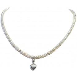 Colier perle apa dulce, argint 925